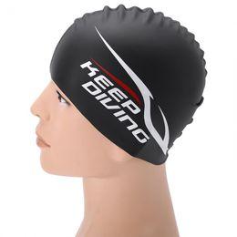 $enCountryForm.capitalKeyWord NZ - Adult Kid Waterproof Silicone Women Swimming Caps For Long Hair Ear Protect Swimwear Bathingswim Hat Water Sports Pool Accessory