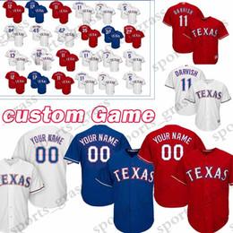 Texas Baseball UK - custom Game Texas Rangers Baseball Jerseys 5 Willie Calhoun 85 Scott Heineman 45 Nick Gardewine 30 Nomar Mazara 19 Shelby Miller Jersey