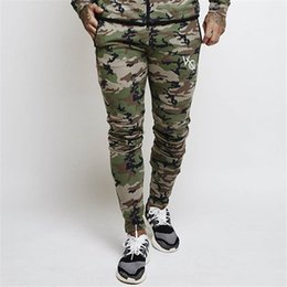 camouflage fitness pants Australia - Designer Autumn Sweatpants Muscle Brothers Men's Fitness Outdoor Sports Feet Casual Pants Camouflage Fashion Sports Elastic Slim Pants
