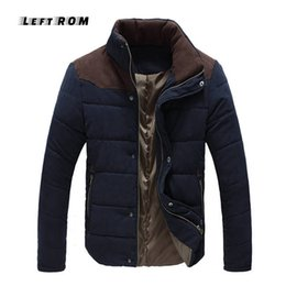 $enCountryForm.capitalKeyWord NZ - LeftROM Autumn Winter Stand Collar Jacket Men Parka Quilted Padded Wadded Windbreaker Male Mens Jackets And Coat Parkas Overcoat
