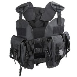Discount tactical vest green - HS Quick Release Navy Seal Chest Rig Tactical Vest Outdoor Paintball Protective Vest for 165-180cm Height Hunting Items