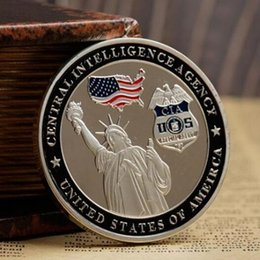 $enCountryForm.capitalKeyWord Australia - 10 pcs The Silent Warrior guard coin bald eagle freedom silver plated 40 mm badge collectible home decoration souvenir coin