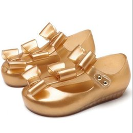 Butterfly jelly shoes online shopping - Melissa Style New Girls Little Butterfly Jelly Sandals Butterfly Knot Soft Bottom Girls Sandals Baby Beach Shoes