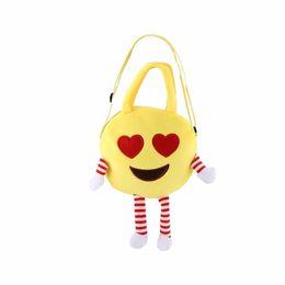 Two Face Coin UK - Cute Children Handbag Bag Face Expression Plush Toy Single Shoulder Cross Messenger Bag Kids Schoolbag Gift Boys Girls