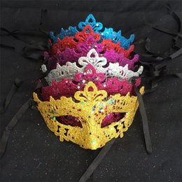 $enCountryForm.capitalKeyWord Australia - Sexy Gold Dust Party Mask Sequins Bling Masquerade Mask For Women Girls Venus Fairy Dance Mask Mardi Gras Masks