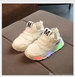 foreign sports shoes NZ - kids shoes New spring and summer children's shoes foreign trade flashing LED boys girls sports lighting lighting coconut shoes