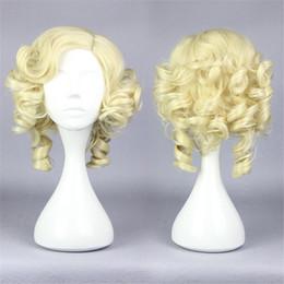 $enCountryForm.capitalKeyWord UK - The Fairy Godmother Style Short Curly Wavy Cosplay Costume Dress Wig for Women