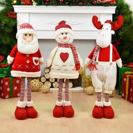 $enCountryForm.capitalKeyWord NZ - Big Size Christmas Dolls Retractable Santa Claus Snowman Elk Toys Xmas Figurines Christmas Gift for Kid Red Xmas Tree Ornament