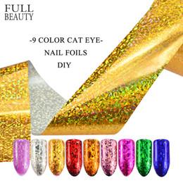$enCountryForm.capitalKeyWord Canada - art transfers 9 Color Laser Eye Cat Foils Holographic Shiny Foils Nail Designs Polish Set Holo Glitter Manicure Sticker Decor