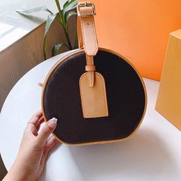 Small rounded hat online shopping - Newest classic Presbyopic package designer tote bag Hats go round designer luxury crossbody bags zipper Round cakes packages handbags purses