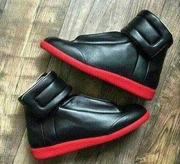 Toptan satış 2019High Kalite Maison Martin Margiela Yüksek Top Sneaker mans ayakkabı Erkek Yürüyüş Flats kırmızı MM Eğitmenler Kanye West Casual ayakkabılar 38-46 Ayakkabılar
