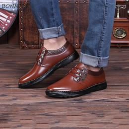 $enCountryForm.capitalKeyWord NZ - Leather Casual Shoes Men High Quality Breathable Non-slip Deodorant Thick Bottom Shoe Mens Soft Gentleman Classic Platform Retro
