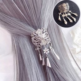 Gold hair clip tassel online shopping - Chinese Shiny Gold Metal flower Tassel Chain Hair Combs For Women Flower Brides Headband Clip Wedding Hair Accessories Jewelry