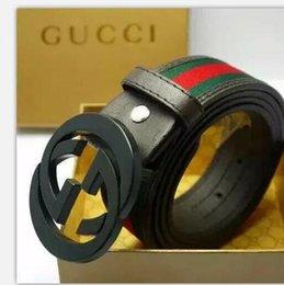 Venta al por mayor de 2020 Nuevo cinturón de cuero genuino para hombres correa de cuero vintage para hombres jeans, correa de color negro, tirantes, cinturilla 105-120 cm sin caja 08