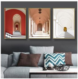 worlds famous painting NZ - Modern Nordic Morocco Door Vintage World Famous Architecture art wall decoration hot sale popular poster 66556