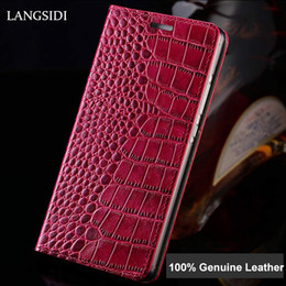 $enCountryForm.capitalKeyWord Australia - For Iphone 7 Crocodile Pattern Genuine Leather Case For Iphone 6s X Xr 8 Plus Luxury Flip Phone Case Shockproof For Iphone Xsmax T190710