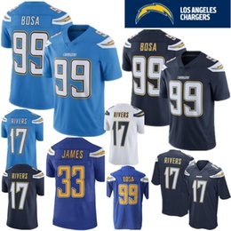 a9bc3349294 17 Philip Rivers Los Angeles Jersey 99 Joey Bosa Charger Jerseys 33 Derwin  James 28 Melvin Gordon 100% Stitched Logo Football Jersey