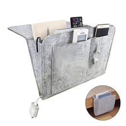 $enCountryForm.capitalKeyWord NZ - Storage Pockets Bags Felt Bedside Hanging Storage Organizer Holder with 2 Inner Pockets for Bed Table Sofa Bags