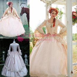 $enCountryForm.capitalKeyWord Australia - 2019 Pink Gothic Wedding Ball Gown Vintage 1920s Style Victorian Chic Bridal Dresses Long Sleeve With Hooded Garden Wedding Dresses Custom