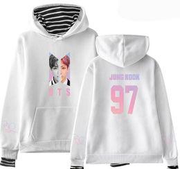 Bts alBums online shopping - KPOP BTS Love Yourself Album SUGA JIMIN V JUNGKOOK Stripe Patchwork Long Sleeve Hooded Women Hoodies Sweatshirt Hip Hop Clothing