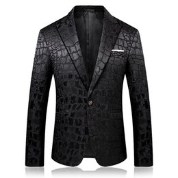 $enCountryForm.capitalKeyWord Australia - Pattern Jacquard Leopard Blazer Men Prom Party Club Slim Fit Blazer Hombre Suit Jacket Men High Quality Vetement Homme 2019 4xl