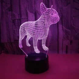 3d Vision Australia - Dog 3D Seven-color 3D Nightlight Touch-controlled 3D Vision Lamp