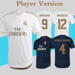 7510381ebd Player Version Real Madrid Maillots 2020 Home Away Soccer Jerseys 19 20  Maillot De Foot HAZARD JOVIC camiseta real madrid Football Shirt