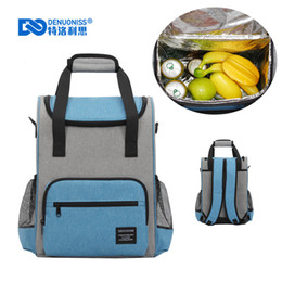 Picnic Ice Packs Australia - Waterproof Soft Cooler Backpack Thermal Picnic Bag Insulated Ice Pack Beer Cooler Bag Thermo Backpacks with bottle opener