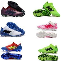 32a5bb8c9b7 2018 original World Cup Nemeziz Messi 18.1 18.3 FG IC Tango mens soccer  cleats shoes chaussures Crampons de football boots scarpe da calcio