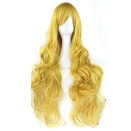 $enCountryForm.capitalKeyWord UK - 20 Colors Long Curly Women's Hair Wig Hairpiece Synthetic Hair Yellow Gray Party Hair Cosplay Wigs
