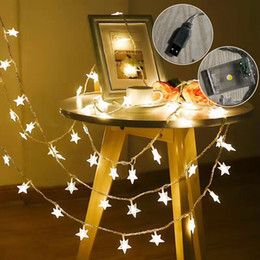 Usb Powered Christmas Lights Australia - 3M 20 Led Stars Holiday Lights String Battery Powered Fairy Lights Christmas New Year Holiday Decoration USB Light(No battery)