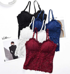 One Piece Products Australia - Summer sexy lace long camisole one-piece no steel ring bottoming wrapped chest women's underwear new products