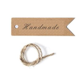 wholesale blank bookmarks Australia - Diy Brown Kraft Paper Label Tag Bookmark Gift Handmade Card Retro Style Price Tags Blank Material Ornaments Arts 5hp ff
