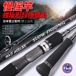 Japan Jig Australia - Japan Full Fuji Parts MADMOUSE Slow Jigging Rod 1.9M PE 3-5 Lure Weight 80-350G 15kgsShipping casting Boat Rod Ocean Fishing