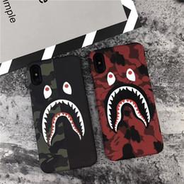 $enCountryForm.capitalKeyWord Australia - 2019 New Shark Cartoon Phone Case for iphone X XR XS MAX iphone 8 7 6 6S plus hard PC Camouflage Phone case