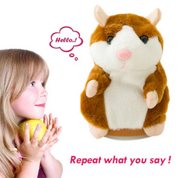 electronic hamsters NZ - Talking Hamster Mouse Pet Plush Toy Hot Cute Speak Talking Sound Record Hamster Educational Toy for Children Christmas Gift