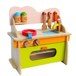 Discount small wooden houses - Wooden House Earnestly Children Cook Small Kitchen Gas Cooker Toys Cosplay Simulation Kitchen Suit