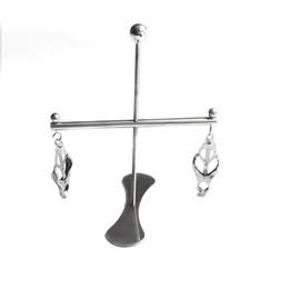 $enCountryForm.capitalKeyWord Australia - New Design Nipple Breast clamps tits clip stimulating with stainless steel cross bracket and base SM Bondage Sex Toys Women Female