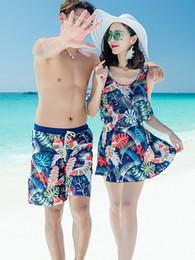 f2195b90e3 New Arrival Couple Swimwear Sexy Bikinis Men's Board trunks Lover Shorts  Beach Wear Swimsuit Women bathing suit Sets 40