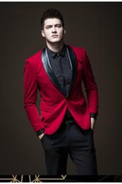 ClassiC suits for men online shopping - Hot Sale Shawl Lapel Wedding Tuxedos Slim Fit Suits For Men Groomsmen Suit Two Pieces Cheap Prom Formal Suits Jacket Pants Tie