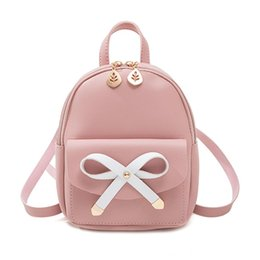 pink leather backpack purse NZ - PU Leather Women Backpacks 2019 Cute Mini Schoolbag Sac A Main Girls Zipper Shoulder Bag Phone Purse Teenager Summer Female