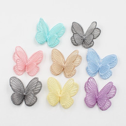 displays for shoes wholesale NZ - 5pcs lot artificial 5cm high quality silk butterfly flower for wedding home decoration DIY gift box clothing shoes accessories C18112601