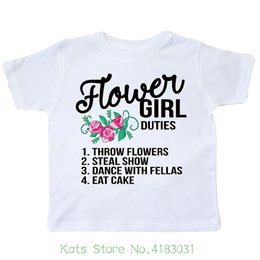 $enCountryForm.capitalKeyWord Australia - Flower Girl Wedding Duties Toddler T shirt T shirt Casual Short Sleeve For Men Clothing Summer