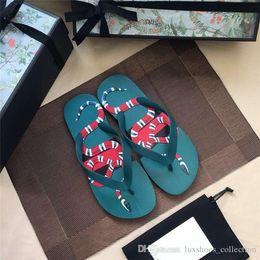 $enCountryForm.capitalKeyWord Australia - Casual men flip-flops Green coral snake pattern for men flat shoes Sandal Essential sandal for holiday travel,Size 39-44