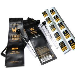 Ingrosso West Coast Cure 3pcs 1pc Borsa per giunti a base di articolazione + tubo di plastica Imballaggio Moonrock Preroll Pre-Rolod Tube Pacchetto Giunto Best DHL GRATIS