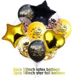 $enCountryForm.capitalKeyWord Australia - ZLJQ Happy 30 40 50th Birthday Balloons Confetti Letax Balloon 30 Years Party Decorations Men Women Supplies Photo Booth Props