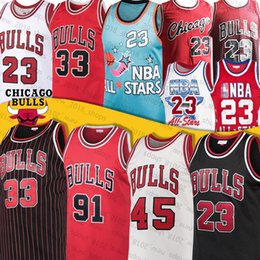Bulls Jersey Chicago 23 Michael Jersey 33 Scottie Pippen Jersey 91 Dennis Rodman Zach 8 LaVine Throwback Basketball Maillots College Nord en Solde