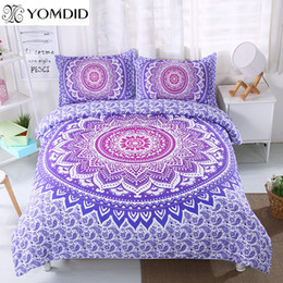$enCountryForm.capitalKeyWord Australia - Mandala Flower Bedding Set Twin Full Queen King Size 3pcs Floral Pattern Duvet Cover pillowcase set Bohemian Bedclothes Bed