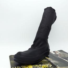$enCountryForm.capitalKeyWord Australia - New list wave genuine leather shoes fashion sheepskin small elastic hooks Tall men and women couple high-top boots