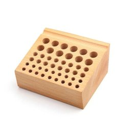 diy wood storage box UK - Screwdriver Seat Home Placement Storage Rack Mini Tool Holder Brush Wood Box Drill Bit Professional 46 Hole DIY Frame